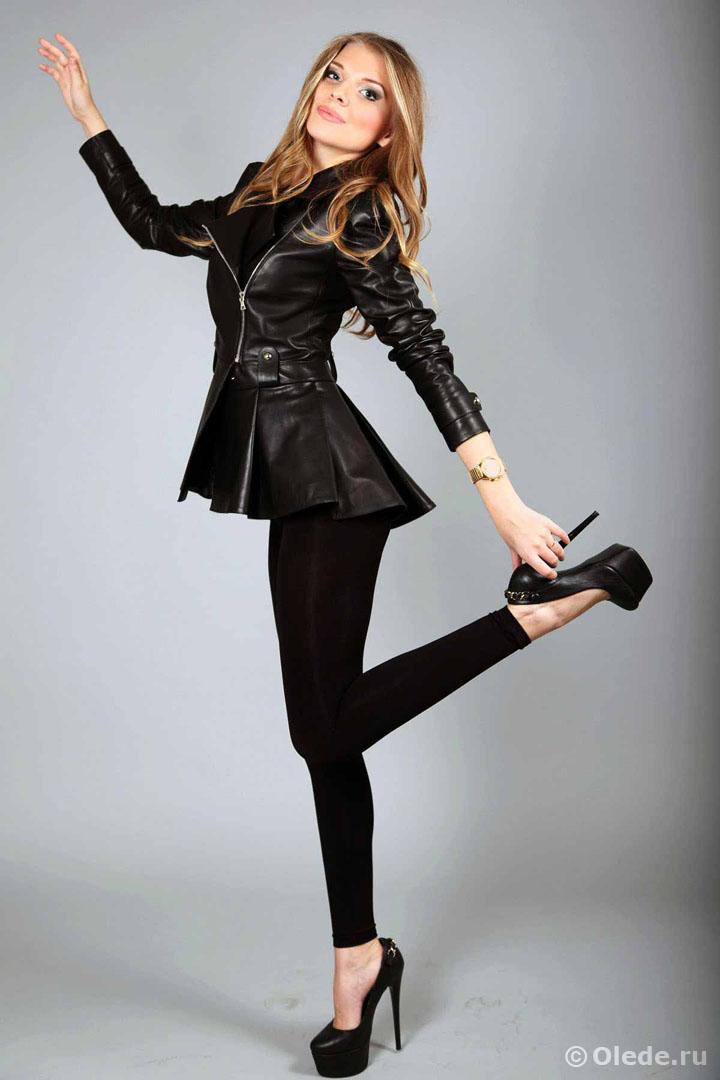 Кожаная куртка бренд OLEDE