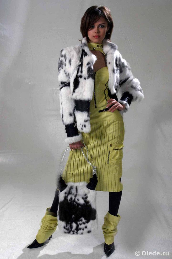 Кожаное платье бренд OLEDE