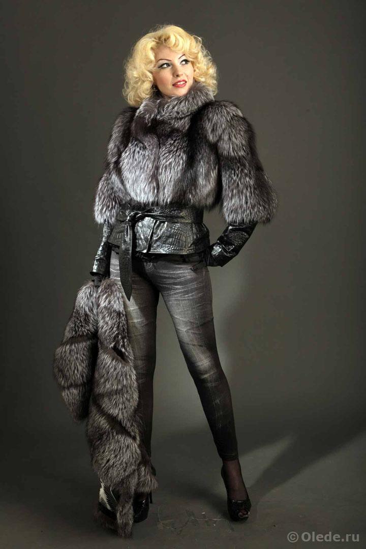 Меховая куртка из чернобурки бренд OLEDE