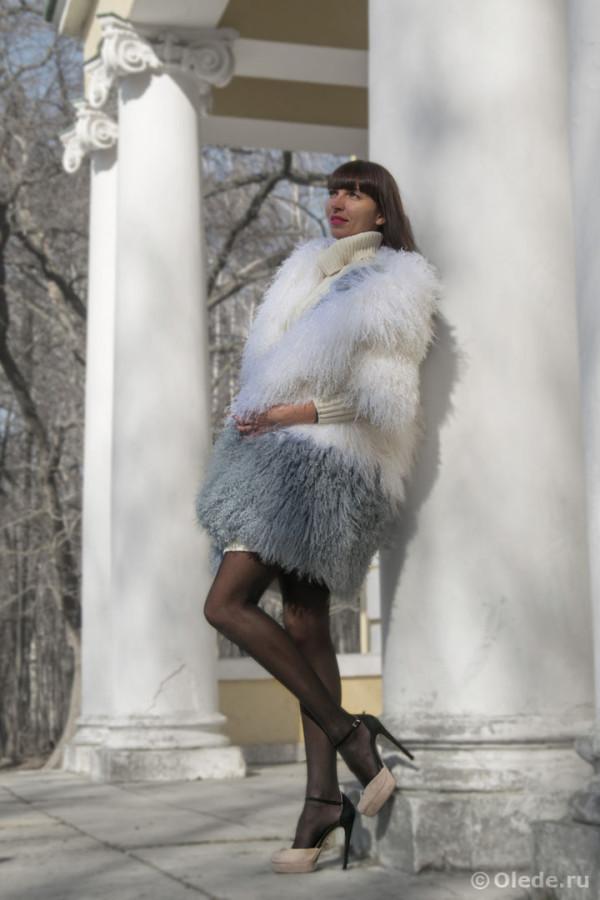 Шуба из ламы пальто двустороннее бренд OLEDE (4)