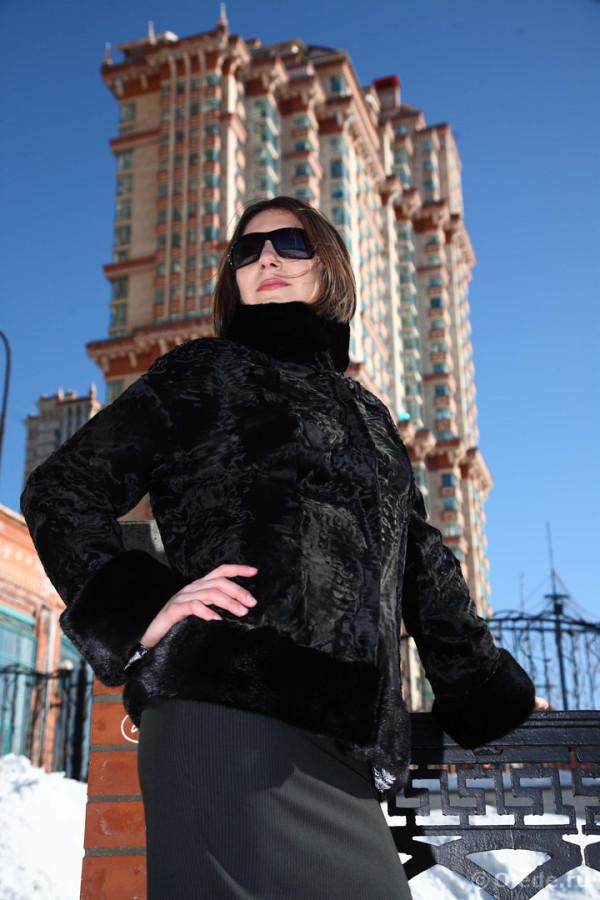 Шуба пальто полушубок куртка каракульча автоледи
