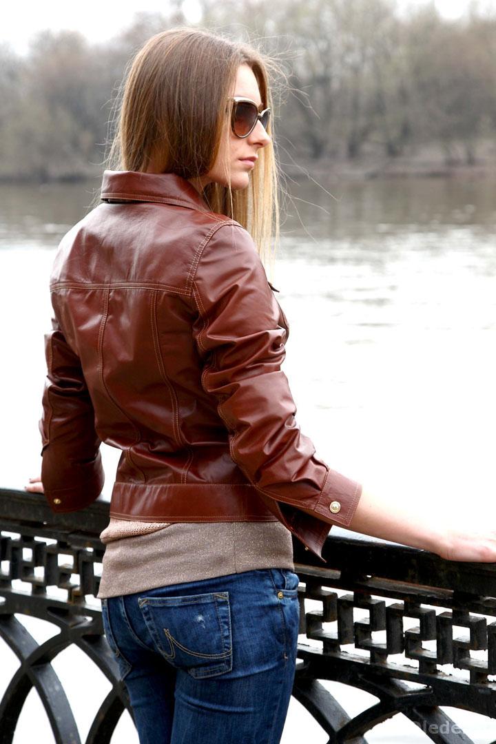 Дизайнерская женская кожаная куртка
