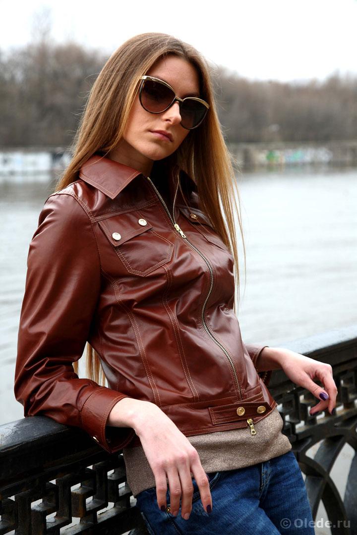 Коричневая кожаная куртка женская носить сумка mulberry оригинал как отличить