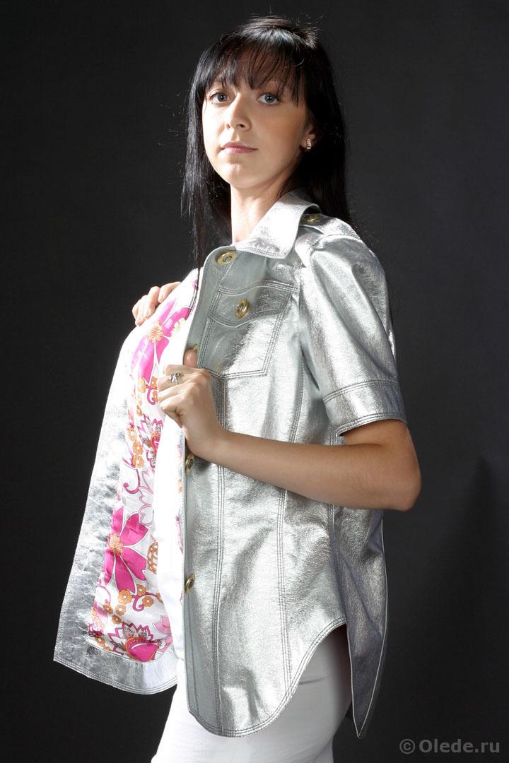 Кожаная блузка