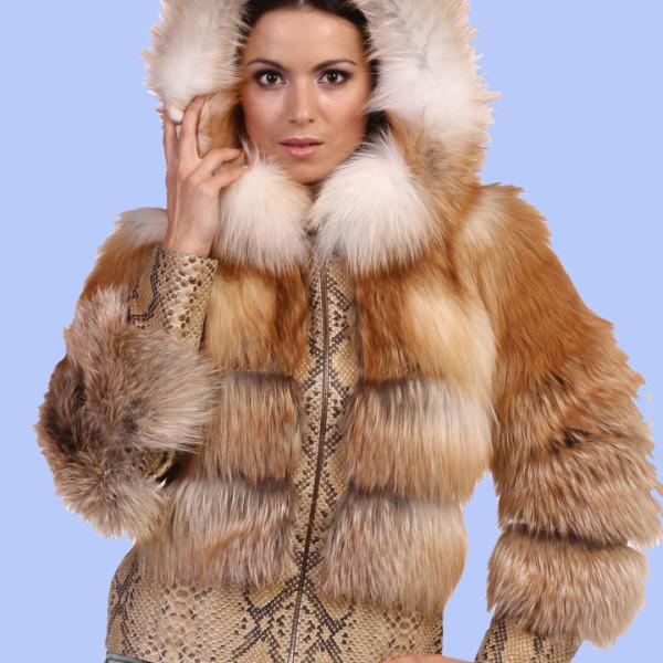 Куртка из рыжей лисы