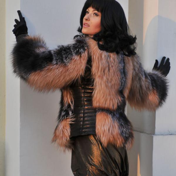 Куртка из лисы чернобурки