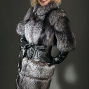 Куртка из чернобурки трансформер