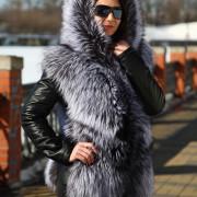 Куртка трансформер из чернобурки