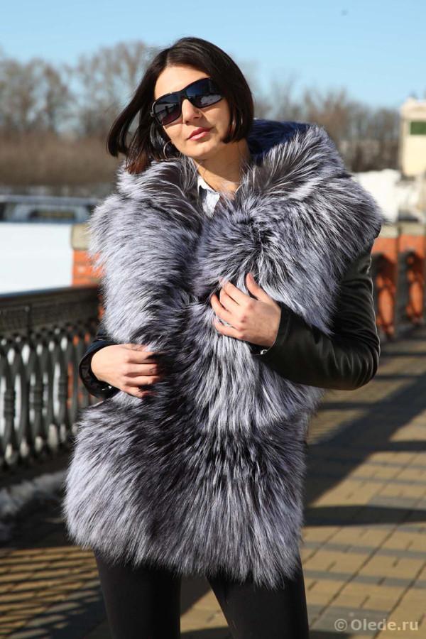 Куртка трансформер из чернобурки 22
