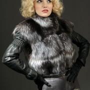 Меховая куртка из чернобурки трансформер