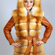 Куртка из лисы трансформер