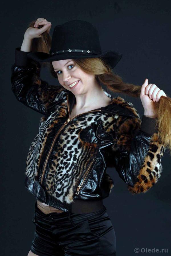 Молодежная куртка кожаная с отделкой из кролика автоледи (2)