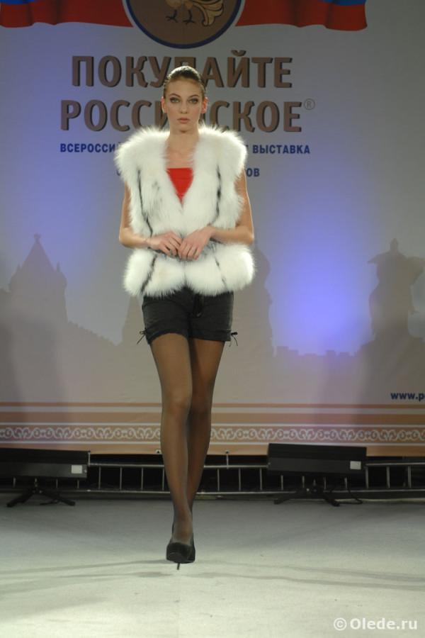 Жилетка меховая из арктической полярной лисы с кожаным корсетом натуральный песец