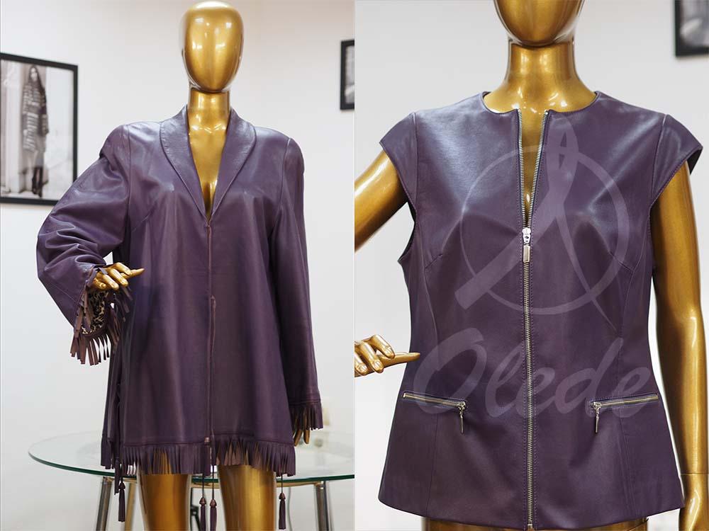 Ремонт кожаной куртки в ателье OLEDE фото до и после