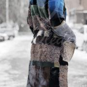 Шуба комбинированная норка каракульча бобер песец