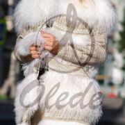 Жилет OLEDE из белой тибетской ламы